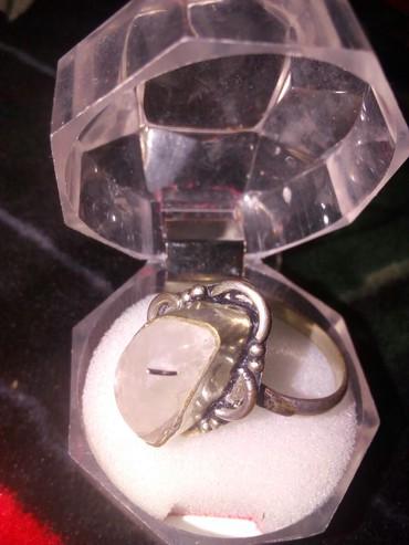 женское кольцо 19 размер в Кыргызстан: Кольцо натуральный камень кара-балта размер 18- 19499с