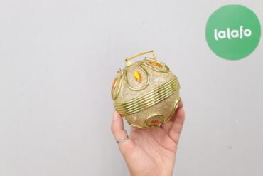 Дом и сад - Украина: Ялинкова новорічна кулька золотистого кольору   Діаметр: 12 см  Стан д