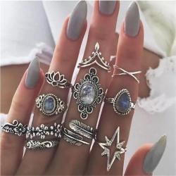 Gospodar prstenova - Srbija: Odmah dostupan komlet prstenova tibetansko srebro od 11 prstenova po