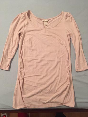 Majica dug - Srbija: Bluza majica dug rukav za trudnice br.38 nezno kajsija boje, oprana