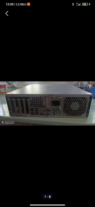 компьютеры рабочие в Кыргызстан: Системный блок HP Материнская плата HP G31 ddr2. Выхода VGA.DP. На 4 м
