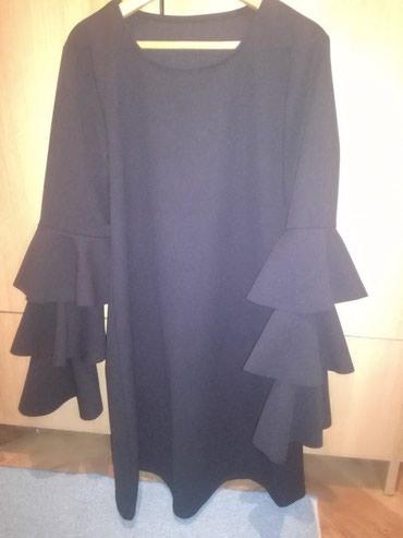 Crna haljina,sa karnerom na rukavu,nova ne nosena,veličina m - Belgrade