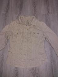 Krem jaknica ili sako strukirana i lepo stoji - Ruski Krstur