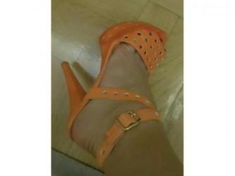 Fly iq459 evo chic 2 - Srbija: Chic sandale atraktivne narandzaste. Visoka stikla. Koza. 37-38
