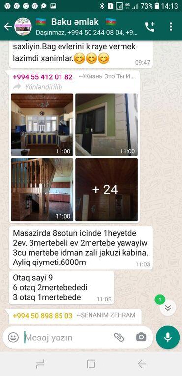 Kirayə Evlər vasitəçidən Uzunmüddətli: 8 kv. m, 9 otaq