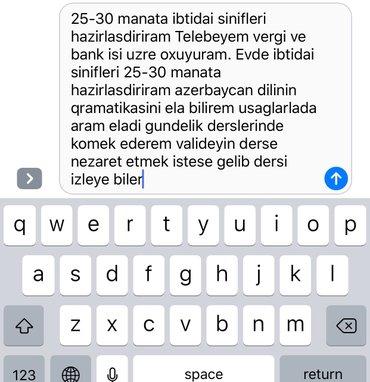 Bakı şəhərində 25-30 manata ibtidai sinifleri hazirlasdiriram Telebeyem vergi ve bank