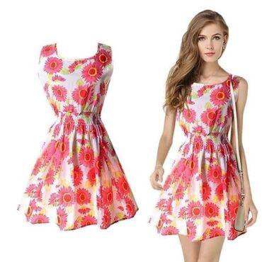 Šifonska šarena haljina1.000 rsdHaljina A kroja sa cvetnim motivima