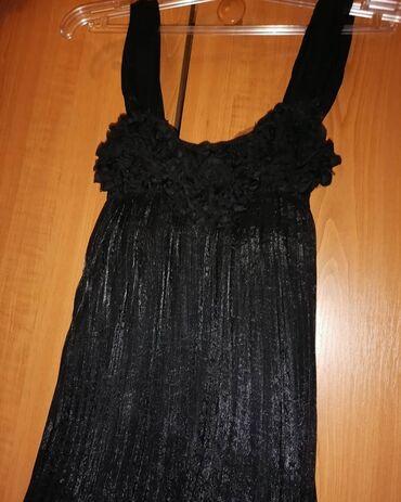 Dres velicina m - Srbija: Crna, nova, kvalitetna haljinica sa postavom, jednom nosena. Moze