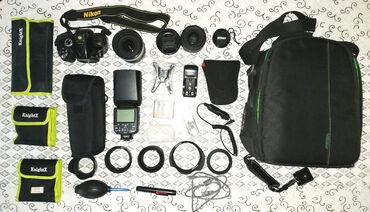 Şəkildə gördüyünüz hamısı cəmi 1000 manata !Nikon D5200Nikkor 18-200