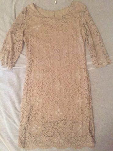 Od-haljina-cipke - Srbija: Elegantna haljina od cipke,bez boje,nova,nije nosena,velicina m