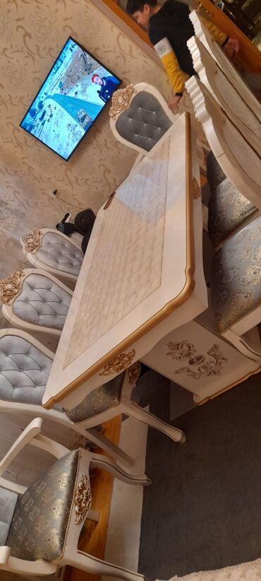 Kafe ucun stol stul satilir - Азербайджан: Stol stul satılır tezedi 1 heftedi alınıb 8 stul 2 kreslo