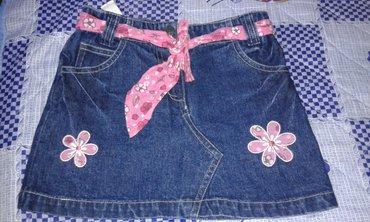 Teksas suknjica - Srbija: Suknjice za devojcice br. 104 ili br. 4 je teksas suknjica, a zelena j