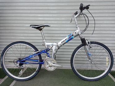 Спорт и хобби - Ала-Тоо: Складной скоростной велосипед с амортизатором в хорошем состоянии