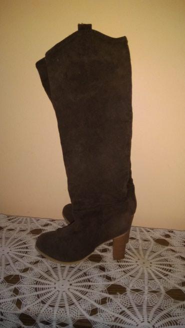Ženska obuća | Srbija: Antilop cizmice, ocuvane, broj 35, moze zamena