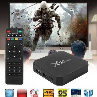 Смарт ТВ приставка X96 mini 2гб 16Гб S905W Android 7.1 ТВ Фильмы Sma