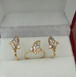 комплект из жёлтого золота 750 пробы.2кр57-0.22 3/3.:1кр57-0.11 3/3. в Бишкек