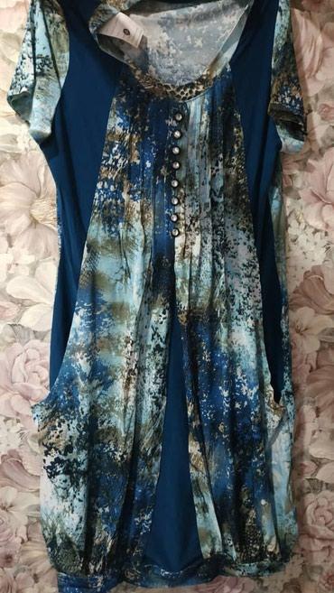Платье самопошив.  .синий 48,52,54.шикарно в Бишкек