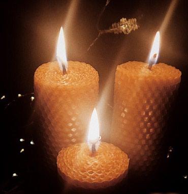 Свечи - Кыргызстан: Подарок ручной работы! Свечи из воска с медовым ароматом!