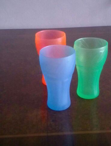 Bayraq rəngli kola neon stəkanlar; orijinal texno rənglər 330 ml
