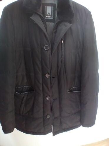 Черная куртка стоячий овчиным воротником производство Турция, очень