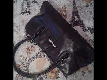 Mona crna kozna torba. Bez mane 40cm sirine,visina 19cm. Naocare ray - Borca