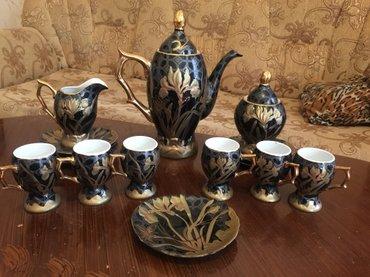 Bakı şəhərində Qehve və çay destleri 40 azn, 6 çaşka nelbeki 30 azn hamısı tezedir.