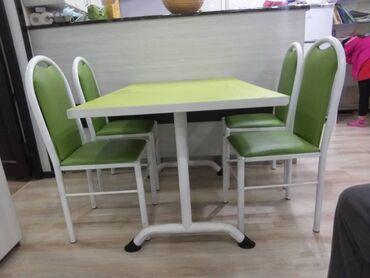 сколько стоит теннисный стол в Кыргызстан: Стол с 4-я стулями, б/у, имеются 10 комплект. в хорошем состояниии