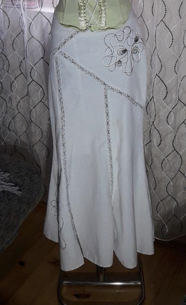 Haljina-bela-duga-cm - Srbija: Bela duga suknja