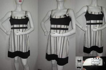 Crno bela haljina sa elastinom - Novi Sad