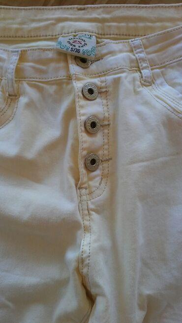 Farke-ka - Srbija: Zenske zute pantalone kao teksas sa elastinom. Novo