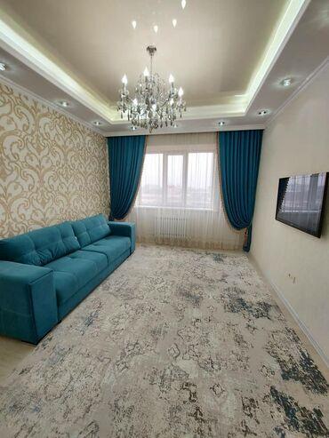 Долгосрочная аренда квартир - 2 комнаты - Бишкек: 2 комнаты, 77 кв. м С мебелью