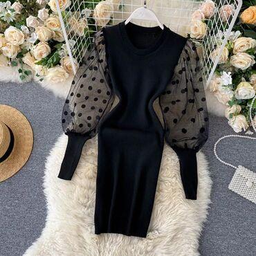 Личные вещи - Дачное (ГЭС-5): Продается вот такое шикарное трикотажное платье черного цветаМодно в