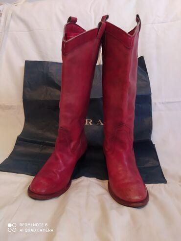 Dečije Cipele i Čizme - Crvenka: Zarine kožne kaubojke,broj 35 nošene ali očuvane