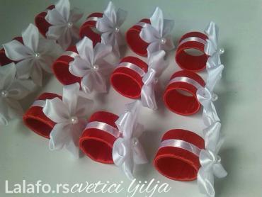 Komplet od 12 prstenova za salvete i ukras  za svecu    - Loznica - slika 3