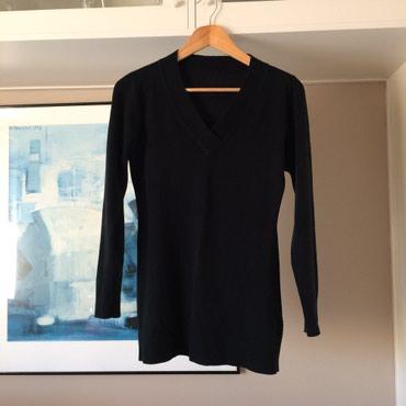 Μαύρο πλεκτό μακρύ πουλόβερ με γιακά V. σε Νέα Σμύρνη - εικόνες 5