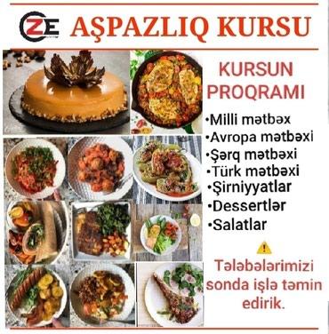 Bakı şəhərində Aşpazlıq kursu