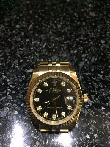 Золотистые Унисекс Наручные часы Rolex