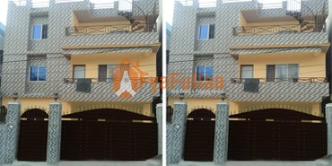 a flat system new house having land area 0-4-3-0 of 3 floors, facing in Kathmandu