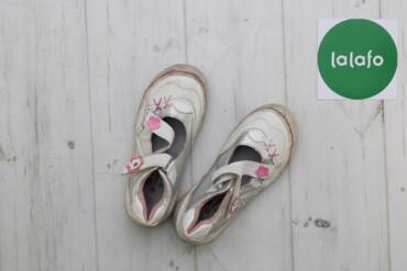 Дитячі туфлі з ромашками на липучках    Довжина підошви: 20 см  Стан