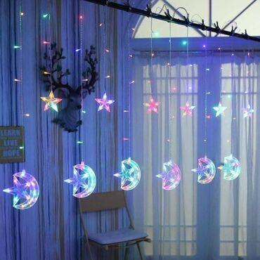 Led lampice svetlosna zavesa sa zvezdicama i meseca️3.5m 2800 din