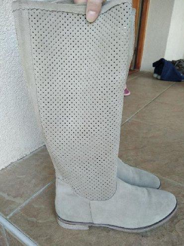 Ženska obuća | Smederevska Palanka: Čizme Antonella Rossi, kožne, nove, neoštećene, obuvene par puta na