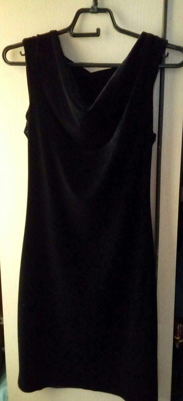 Uska crna haljina od plisa. Jednom obucena.  - Bogatic