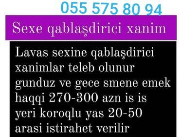 Qabyuyanlar - Azərbaycan: Qabyuyan maşınlar. Təcrübəli. Növbəli qrafik