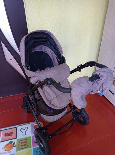 прогулочную коляску лёгкая и удобна в Кыргызстан: Продается коляска фирмы Teknum.Трансформер 2 в 1.Состояние хорошее 9