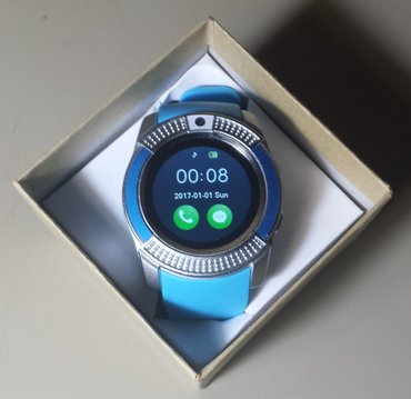 Ručni sat mobilni telefon (smart watch) plavi kamera 0. 3mp - Belgrade