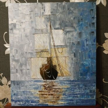 Интерьерная, масляная картина (Реплика на Юстина Копаня) Размер 50×60