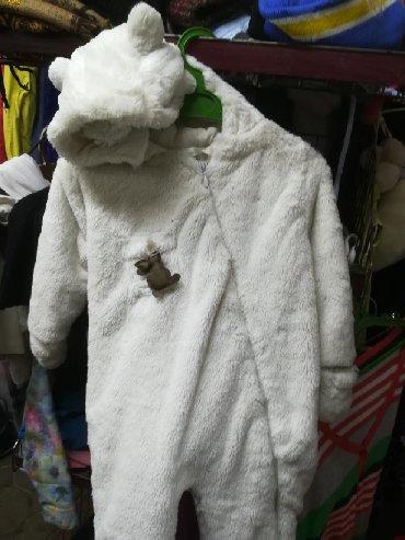 детские вещи комбинезоны в Кыргызстан: Комбинезон белый мишка