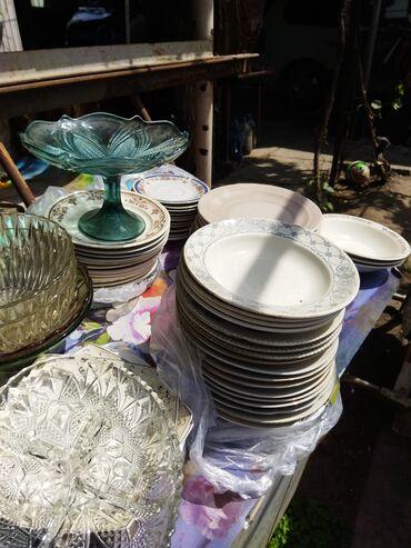 Посуда Советская бу 56 чашек больших и малых. 4салатницы . 500сом за
