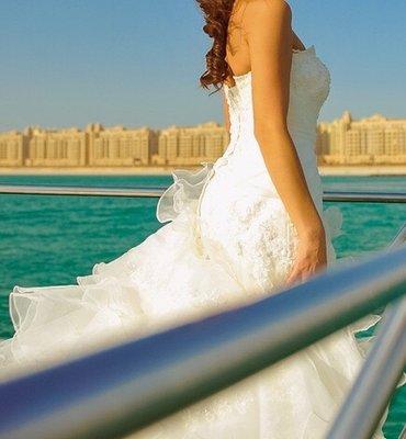 Свадебное платье прокат или продажа размер регулируется цвет айвари в Бишкек