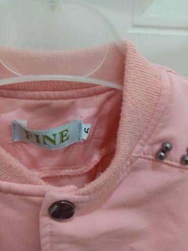 Розовая кофтачка детская на 6-7лет